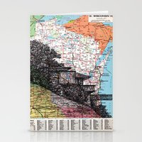 wisconsin Stationery Cards featuring Wisconsin by Ursula Rodgers