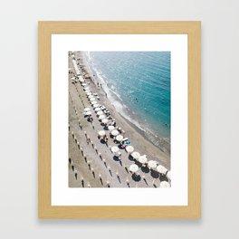 Sorrento Beach Scene Framed Art Print