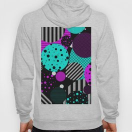 Circles, Bubbles And Stripes Hoody