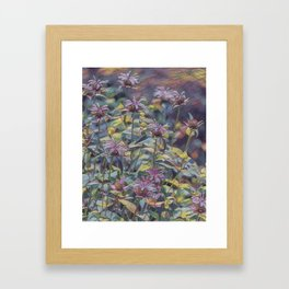 Abstract Thistle Framed Art Print
