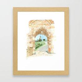 Nottingham Castle Entrance Framed Art Print