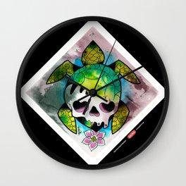 SeaturtleSkull Wall Clock