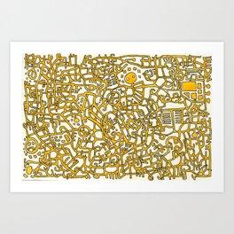 Begin/End Series in Yellow Art Print