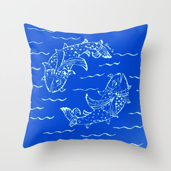 Happy fish- 1 Throw Pillow