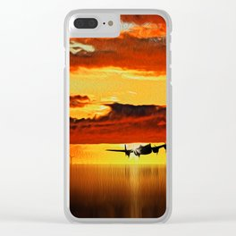 Lancaster at Sunset (Digital Art) Clear iPhone Case