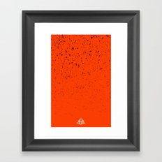 Trail Status / Orange Framed Art Print