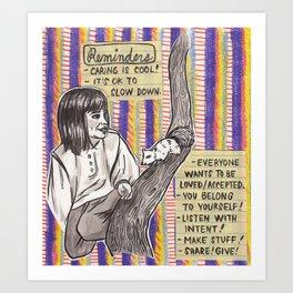 Reminders Art Print
