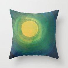 Abstract Moon Throw Pillow