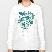 ghibli Long Sleeve T-shirts featuring Studio ghibli mash up by Herdhi