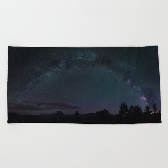 Stars At Yosemite Beach Towel