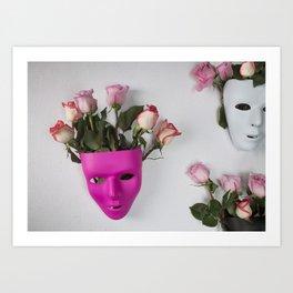 Face over Mind Art Print