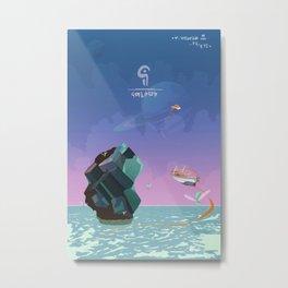 Magic Crystal Metal Print