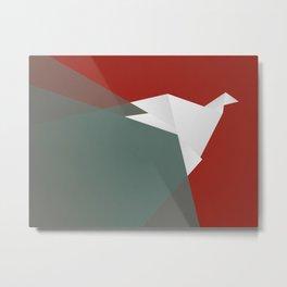 Paper Dove Metal Print