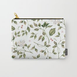 Pink And White Flower Garden Carry-All Pouch