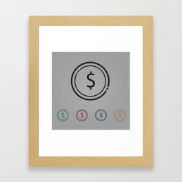 dollars Framed Art Print