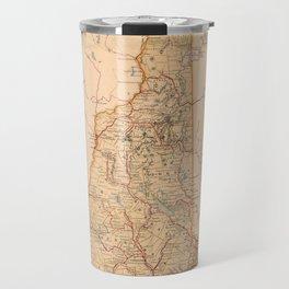 Map Of New Hampshire 1890 Travel Mug