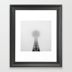 Space Needle in Fog, Seattle, Washington Framed Art Print