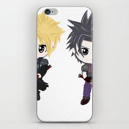 Cloud & Zack Final Fantasy chibi iPhone Skin