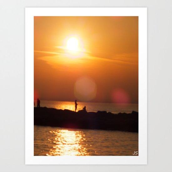 As The Sun Goes Down Art Print