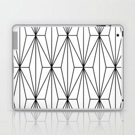 Black White Geometric Pattern Illustration Laptop & iPad Skin
