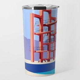 Soviet Modernism: Diving tower in Etchmiadzin, Armenia Travel Mug