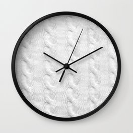 Cable Knit Wall Clock