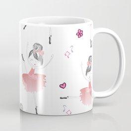 Little Dancing Ballerinas Pattern Coffee Mug