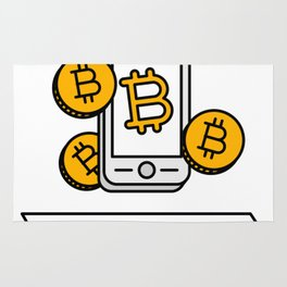 Pay With Bitcoin (Mobile Payments) Icon Rug