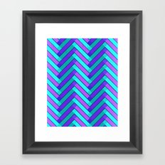Holly Go Chevron Framed Art Print