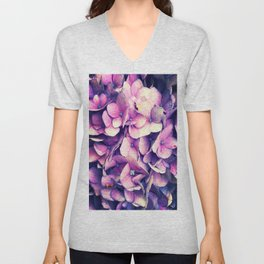Purple Unisex V-Neck