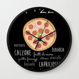 Pizza Poster Wall Clock
