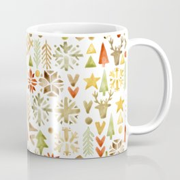 Winter forest scandinavian background Coffee Mug