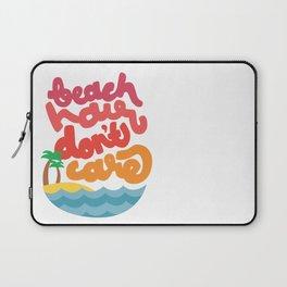 Beach Hair Don't Care Laptop Sleeve
