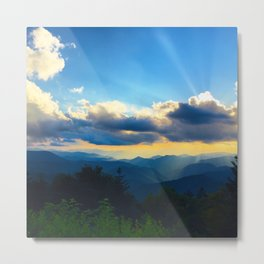 Golden sunset in the Blue Ridge Metal Print