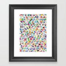 Cuben Colour Craze Framed Art Print