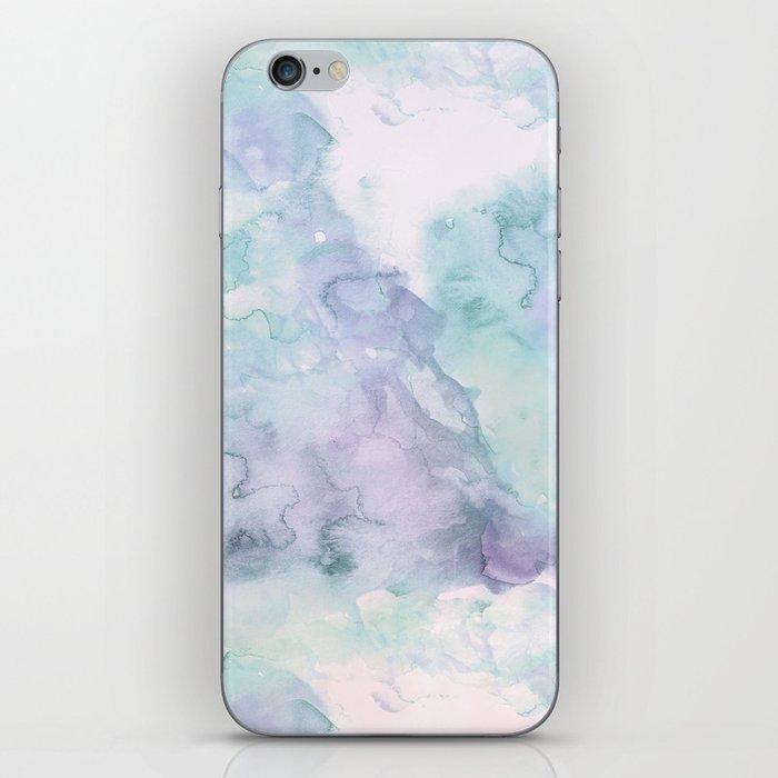 Pastel modern purple lavender hand painted watercolor wash iPhone Skin