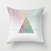 confetti Throw Pillows featuring CONFETTI by Kath Korth