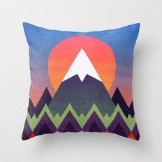 Camp / Sunset Version Throw Pillow