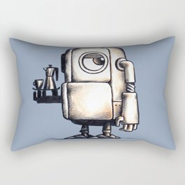 Robot Espresso #2 Rectangular Pillow