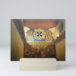 Another Mexican Mural on the wall. CDMX 35mm Film Mini Art Print
