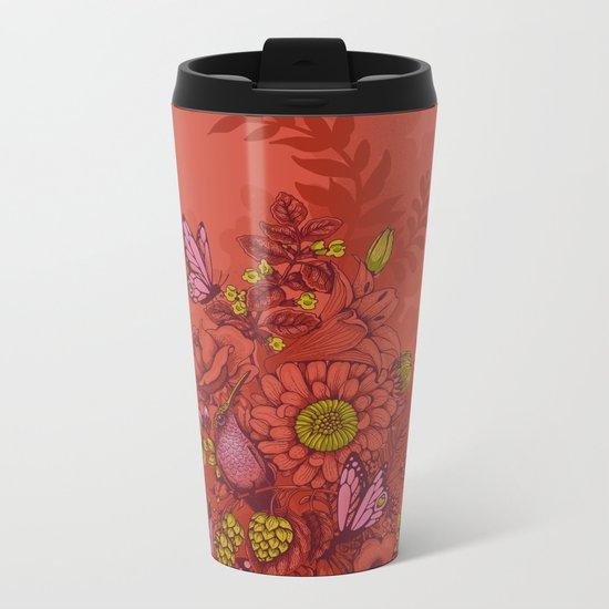Beauty (eye of the beholder) - terracotta version Metal Travel Mug