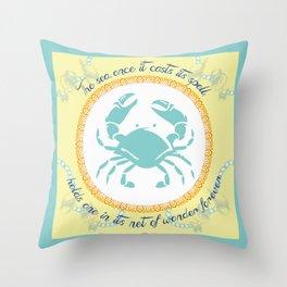 Crabby Inspiration Throw Pillow