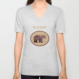 Glacier Grizzly Unisex V-Neck