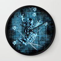 fringe Wall Clocks featuring Fringe by Veruca Crews