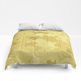 Custard Square Pixel Color Accent Comforters