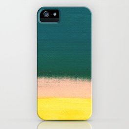 Minimal Abstract Sunset Painting iPhone Case