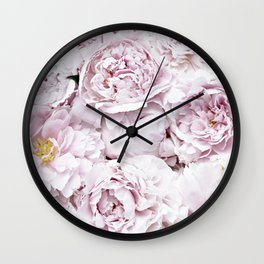 BED OF FLOWERS - PEONY PINK Wall Clock