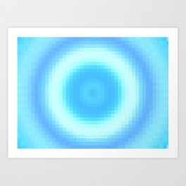 Ripple V Pixelated Art Print