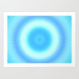 Ripple V Pixelated Art Print