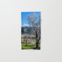 """""""Flowering Almonds"""". At The Mountains Hand & Bath Towel"""
